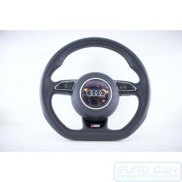 Audi SQ5 Flat Bottom Multifunction Steering Wheel Airbag Black Leather OEM Genuine Euro Car Upgrades eurocarupgrades.com.au