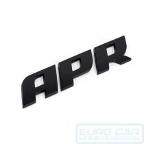 APR Badge satin black 108 x 22mm - Euro Car Electronics - eurocarupgrades.com.au