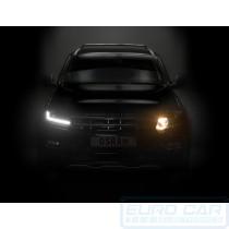 DRL Compared - Volkswagen Amarok LEDriving® halogen headlights upgrade BLACK EDITION OSRAM