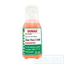 SONAX Clear View 1:100 Concentrate - A highly effective concentrate cleaning additive, for your windscreen washer unit - Euro Car Upgrades - official Sonax distributor - eurocarupgrades.com.au