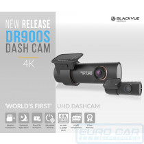 In-car video camera DVR 4K UHD dashcam BlackVue DR900S-2CH - Euro Car Upgrades - eurocarupgrades.com.au
