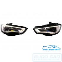 Audi A3 S3 8V Bi Xenon LED Headlights RHD retrofit OEM 8V0941005 8V0941006 Euro Car Upgrades eurocarupgrades.com.au