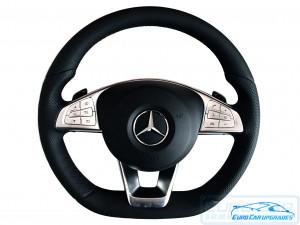 Mercedes-Benz AMG Super Sport Flat Bottom Steering Wheel  - Euro Car Upgrades - www.jku.com.au