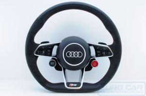 Audi R8 Alcantara Steering Wheel Flat Bottom Drive Select Start Stop Buttons OEM Genuine - Euro Car Upgrades - eurocarupgrades.com.au