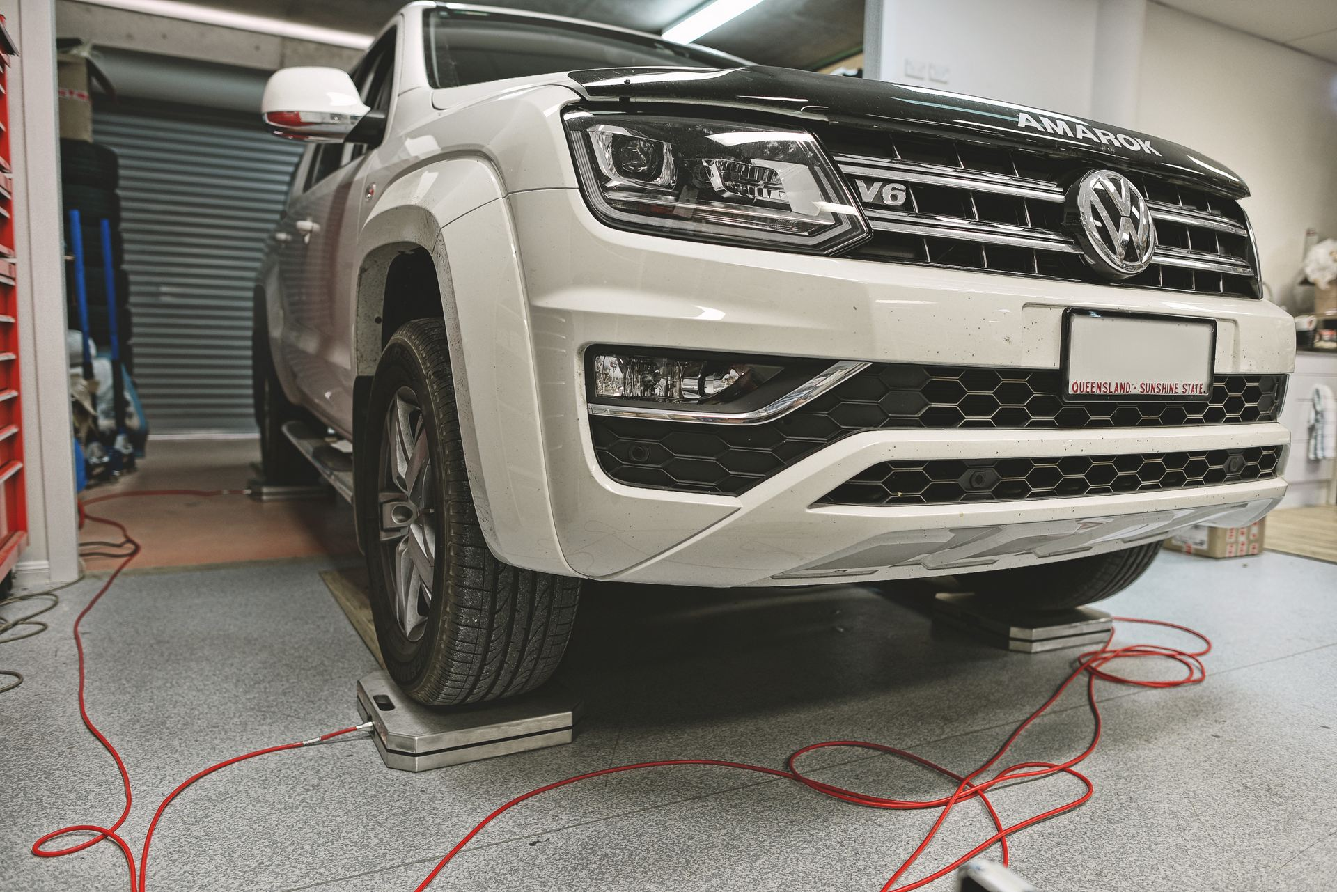 Volkswagen Amarok 3.0 TDI V6 weight check before dyno - Euro Car Upgrades - jku.com.au